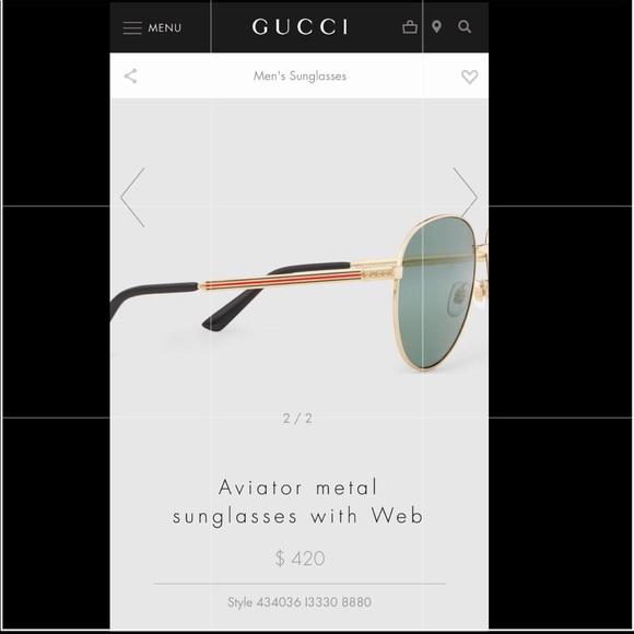 5067fecff3d7 Gucci Accessories | Aviator Gold Metal With Webgg2281s J5gha | Poshmark